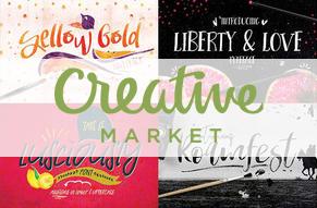 Creative Market - Fonts - Illustrations - Web Designer Resources