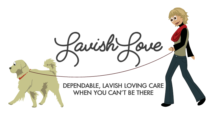 Lavish-Love-Petsitting-Cartoon-Dogwalker-Logo