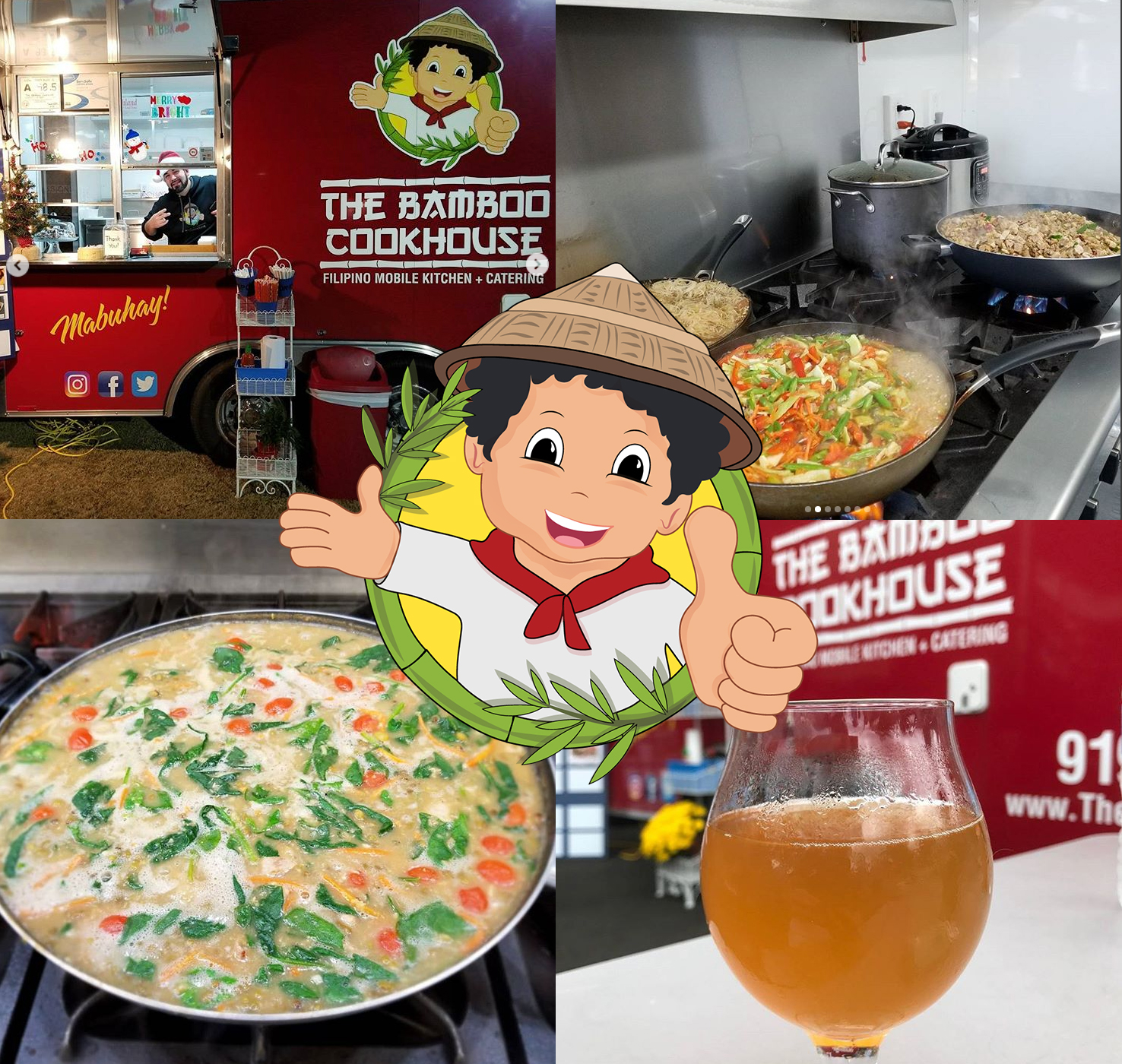 The Bambook Cookhoue North Carolina Filipino Food Truck Branding